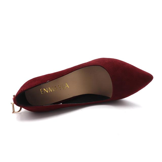 ENMAYER Stiletto Heels Shoes Woman Big Size 2018 Fashion High Heels Women Pumps Classic White Red Beige Sexy Wedding Shoes CR472
