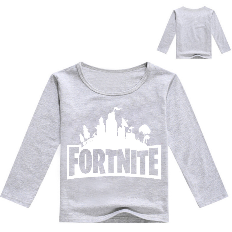 Casual Fortnite T-Shirt Cartoon 3D Print Long Full Sleeve Childrens Clothes Tshirt Girls Boys Enfant Spring Autumn Clothing