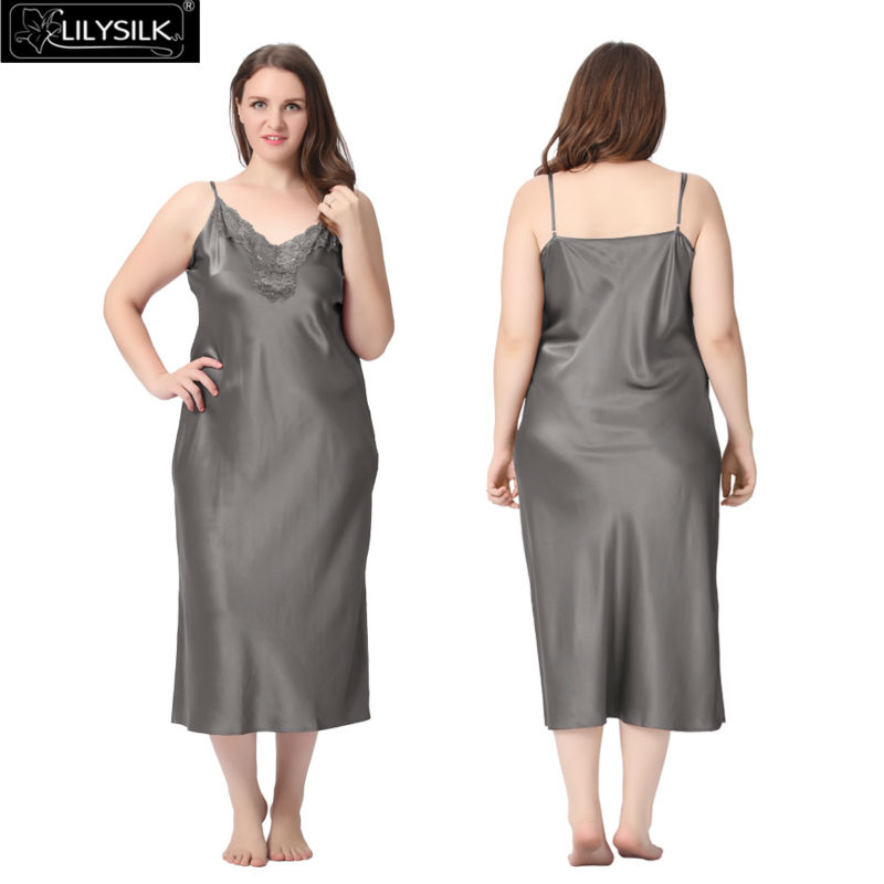 1000-dark-gray-22-momme-lacey-neckline-silk-nightgown-plus-size-01
