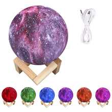Night Light 3D Printing Moon Lamp Lunar USB Charging Night Light Touch Control Wedding Birthday Party Grand Event Glow Props 3d print simulation moon light night light usb charging touch control