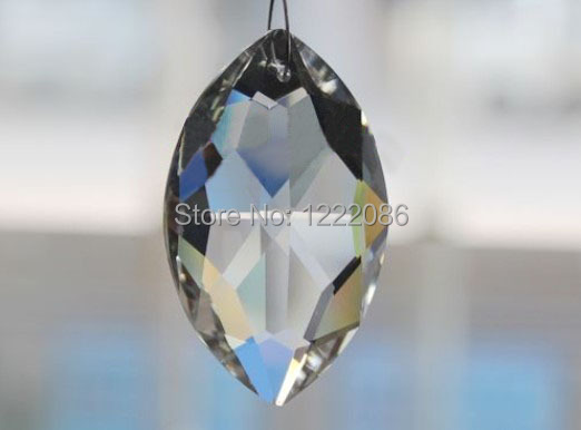 30pc crystal marquis 38mm clear suncatcher chandelier faceted pointed oval pendant