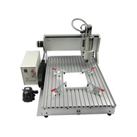 Free tax to Russia! CNC 6090 milling engraving machine For PVC ABS PCB Aluminum 2200W 4 axis wood router 2.2KW 3axis