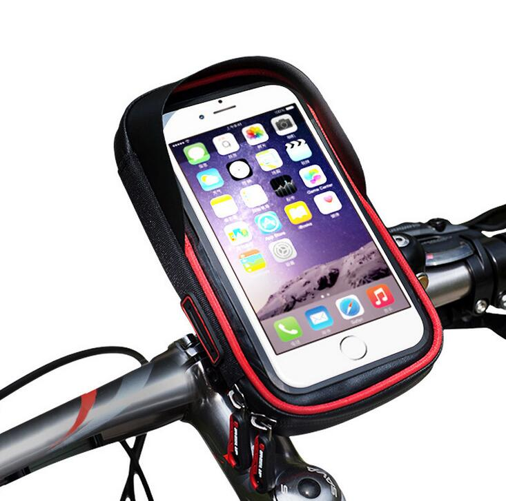 WHEEL UP Waterproof Touch Bike Handlebar Bag Bicycle Front Phone Holder Case