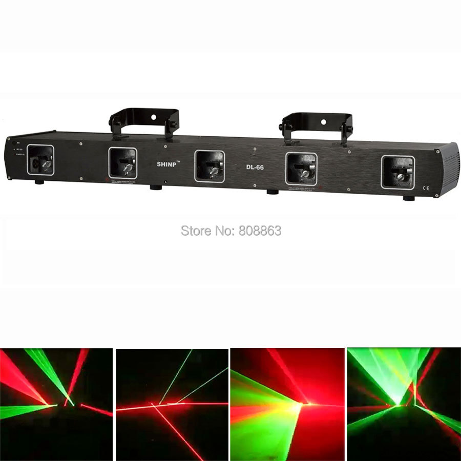 New 5 Lens Double RG Beam Laser Scanner DMX Dance Bar Xmas Party Disco DJ Lighting Effect Light Stage Lights Show system X8 rg mini 3 lens 24 patterns led laser projector stage lighting effect 3w blue for dj disco party club laser