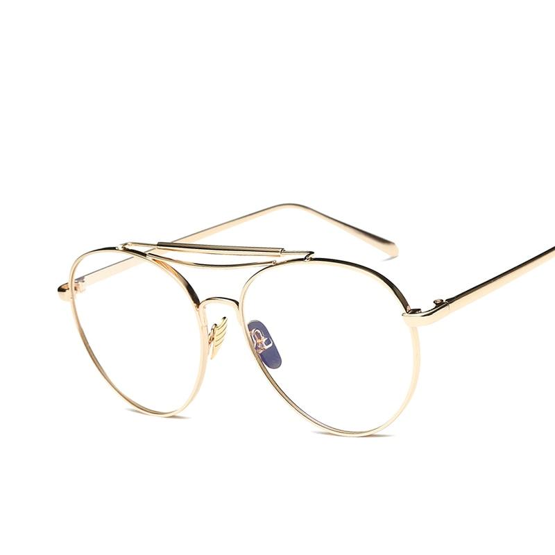 ̿̿̿(•̪ )Mujeres Gafas marcos clásicos marca vintage oval gafas anti ...