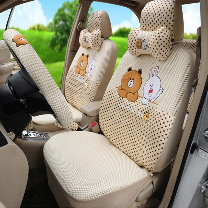 Brown and Cony car seat cover 1