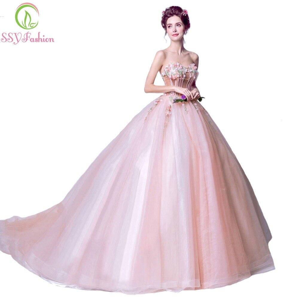 Liquidación SSYFashion encaje de oro champán vestido de novia ...