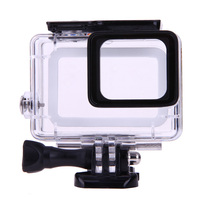 45m Waterproof Action Camera Housing Case Underwater Diving Protector Shell With Stand Red Lens Filter For