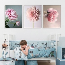 Beauty Life Pink Flowers Wall Art Canvas Painting Posters And Prints Pictures For Living Room Modern Decor Unframed