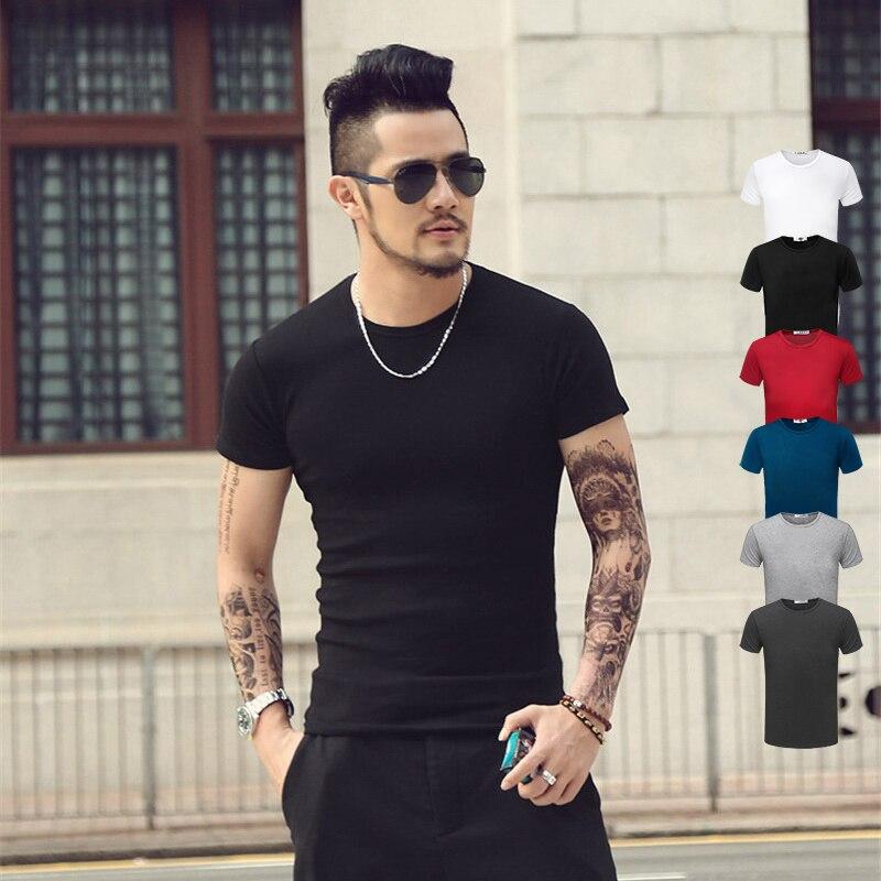 Мода сплошной цвет майка мужская о-образным вырезом топы тройники yeezy футболки покемон гоу стиль напечатаны футболки tx95-03-ан e