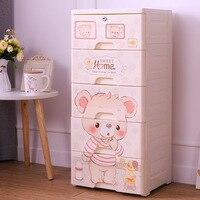Children's Wardrobe Drawer Type Children's Cartoon Simple Wardrobe Toy Finishing Cabinet Plastic Storage Box Plastic Box