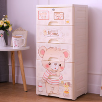 Children's Wardrobe Drawer Type Children's Cartoon Simple Wardrobe Toy Finishing Cabinet Plastic Storage Box Plastic Box
