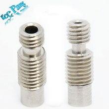 5 pcs/lot Stainless Steel  V6 Heat Break Hotend Throat V6 Nozzle throat for 1.75 mm / 3.00mm Filament 3d Printer