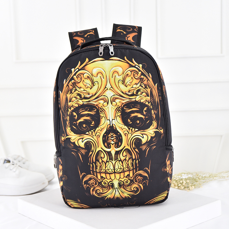 MIWIND 3D Skull Backpack Shoulder Bags For Men Printing Backpack Men Punk Rock School Backpack For Men Casual School Bags TRT631 new 3d skull backpack shoulder bags for men printing backpack men punk rock school backpack for men casual school bags for boys