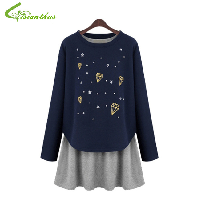47c2eed842f87 Pregnant Woman Dress 2pcs Pluse Size Casual Clothing Maternity Long Sleeve  T shirt Vest Dresses Women Fashion Free Drop Shipping-in Dresses from ...