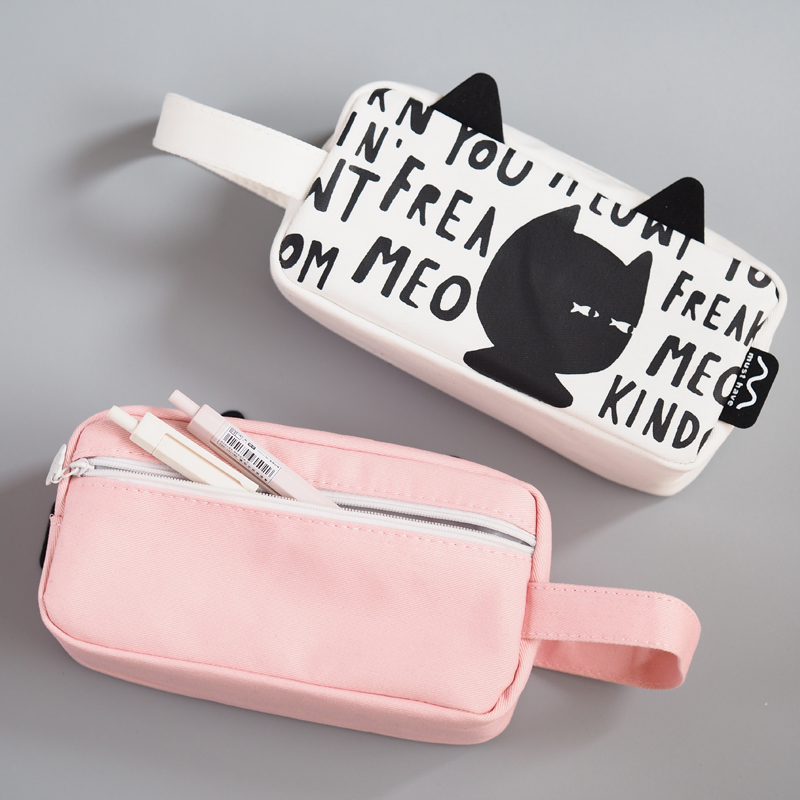 19*6*9cm Creative Multi-functional Pencil Case Bag Portable Cartoon Simple Design Pencil Bag Box Storage School Supplies PL spark storage bag portable carrying case storage box for spark drone accessories can put remote control battery and other parts
