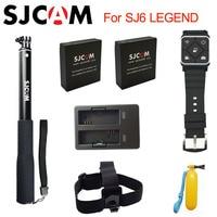 Original SJCAM SJ6 Legend Accessories Battery Selfie Stick Monopod Wrist Remote Dual Charger For SJ CAM
