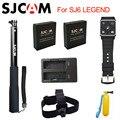 Original sjcam sj6 legend acessórios bateria pulso carregador duplo controle remoto selfie vara monopé para sj cam sj6 lenda ação da câmera