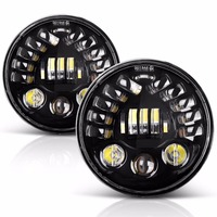 7 LED For Projection Headlight DRL With Gravity Sensor Turn Signal Light For Harley Motorcycles Daymaker