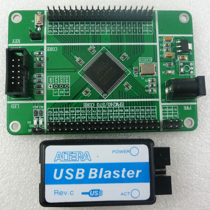 Altera Max Ii Epm240 Cpld Board & Usb Blaster Fpga Programmer Epm240t100c5n Development Kit For Fast Shipping Active Components