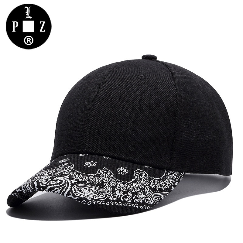 PLZ 2017 New Baseball Cap Sun Hats For Men Women Bandanna Print Visor Fashion Black Hats Adjustable casquette gorras gorro k312 2016 new new embroidered hold onto your friends casquette polos baseball cap strapback black white pink for men women cap