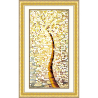 5D DIY Diamond Painting Pachira Macrocarpa Cross Stitch Needlework Diamond Mosaic Diamond Embroidery Pattern Hobbies Botany