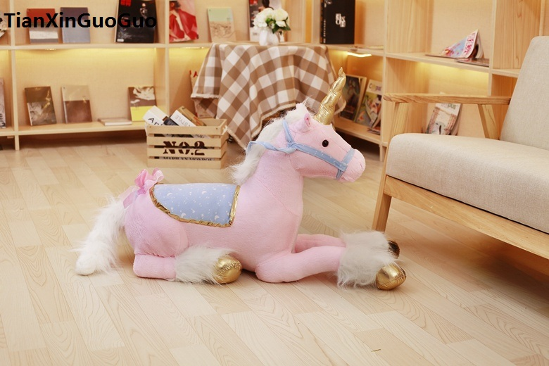 large 85cm lovely pink unicorn plush toy lying unicorn soft doll hugging pillow toy birthday gift s0826 lovely panda in pink dress big 90cm plush toy panda doll soft throw pillow proposal birthday gift x030