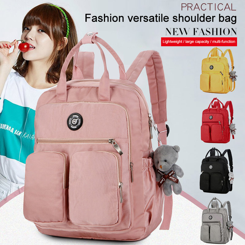 2019 New Casual Women Backpack Multi-pocket Large Capacity Waterproof for Outdoor Travel School BS88