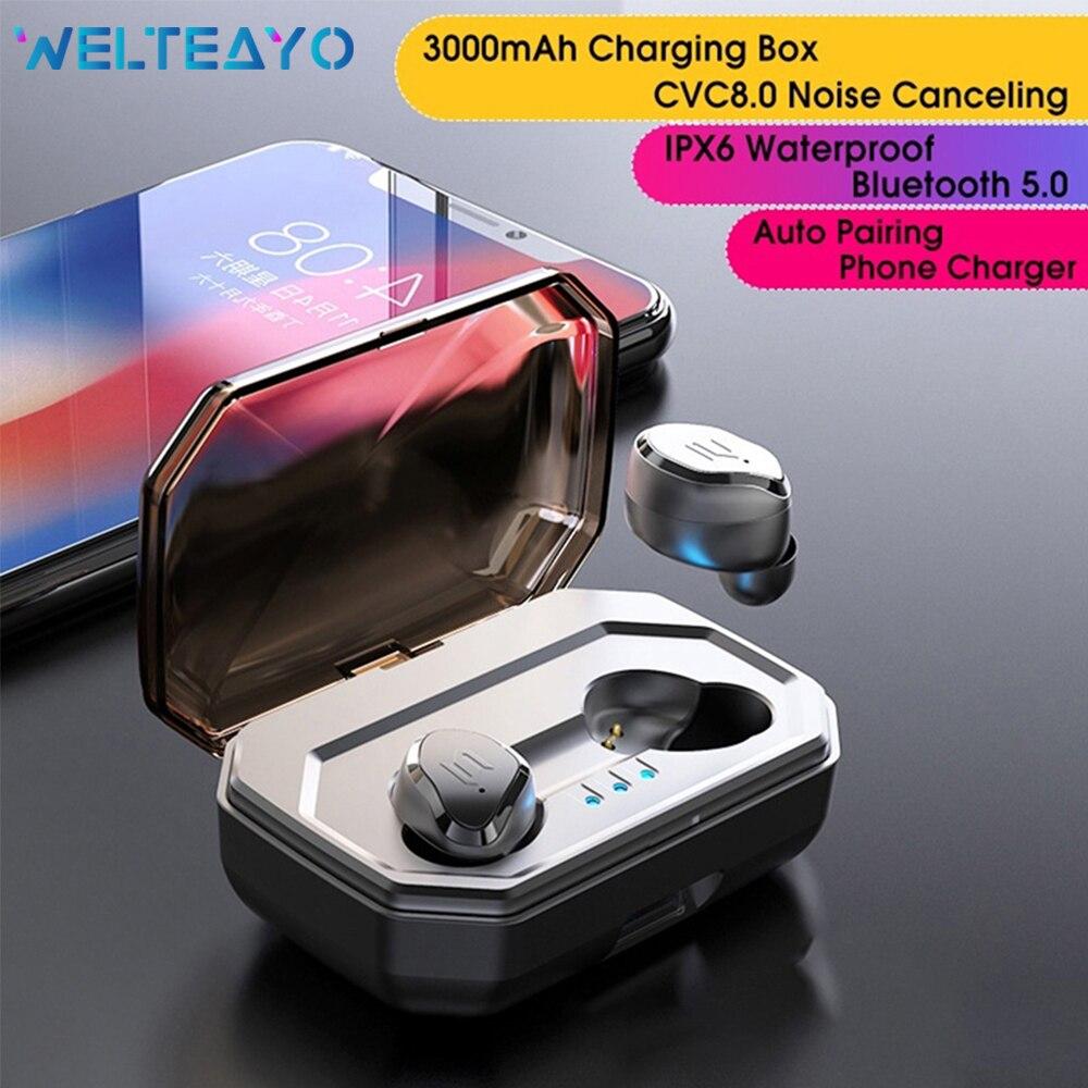 Casque sans fil Heaphones Bluetooth 5.0 TWS écouteurs à commande tactile écouteurs sans fil casque Bluetooth avec micro pour tous les téléphones