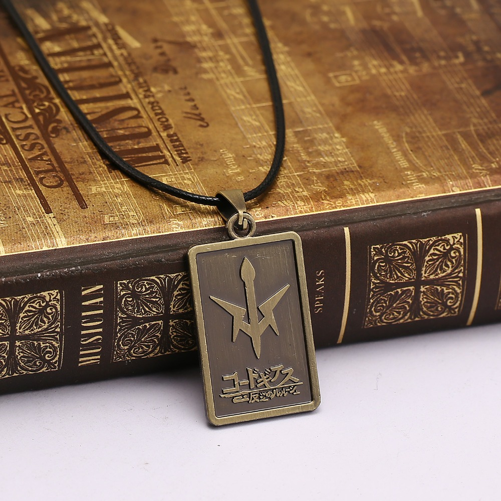 Anime Code Geass Lelouch of the Rebellion Pendant Cosplay Necklace Dog Tag Gift