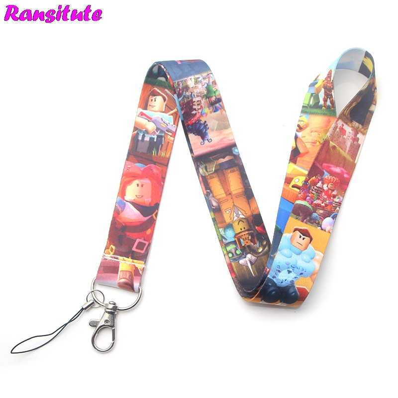 ROBLOX game lanyard key ID card mobile phone belt USB badge holder DIY lanyard