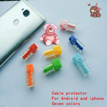 100pcs/lot USB  Cable clip Earphone Protector Colorful protector Saver For Apple iPhone Samsung HTC ipad