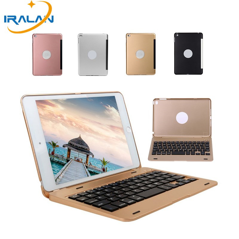 цены 2017 new Aluminium Ultra Slim Portable Wireless Bluetooth 3.0 Keyboard Case Holder For iPad Mini 4  7.9 inch Cover+film+stylus