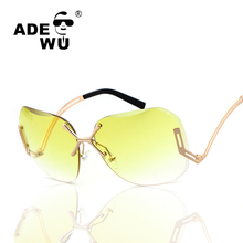 Adewu Sin Montura de Las Gafas de Diseñador de la Marca de Lujo de Alta Calidad Photochromic UV 400 gafas de Sol Femeninas de La Vendimia gafas de sol mujer
