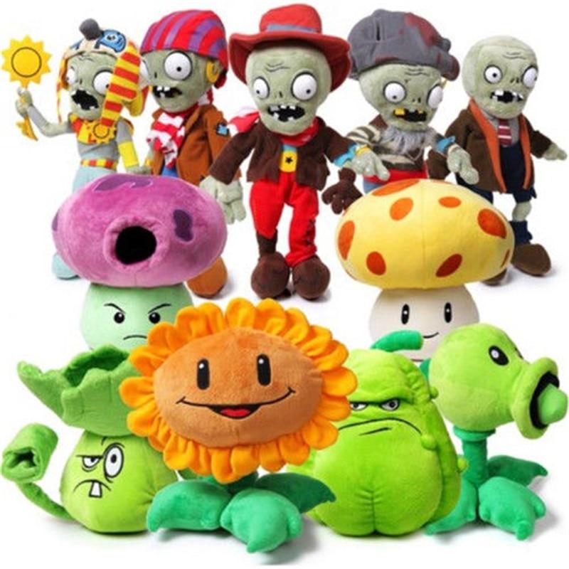 Game Plants vs Zombies Plush Toys 13-20cm Plants vs Zombies Plants Plush Stuffed Toys Soft Game Toy Children Kid Gifts no box
