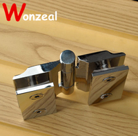 High Quality Pure Copper Glass Hinge For Shower Room With Wide Angle At Any Position