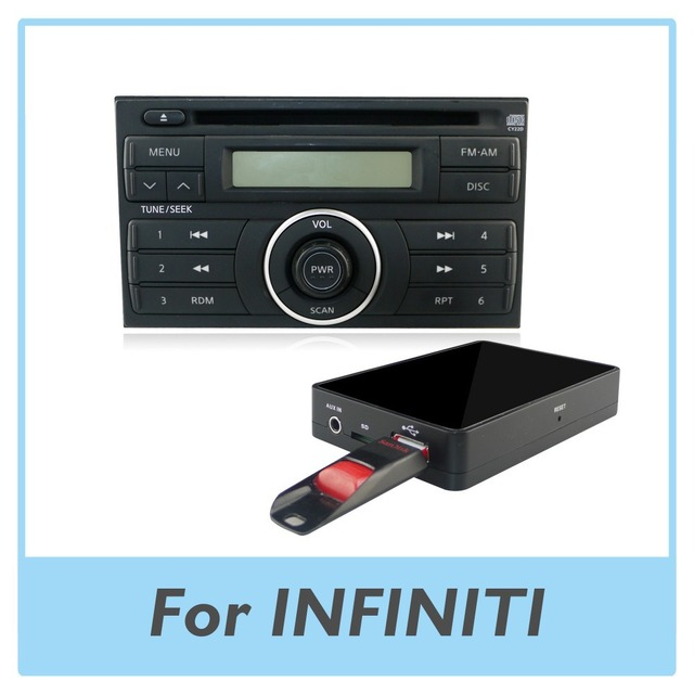 Car Radio Usb Aux Sd Card Adapter Mp3 Player Digital Cd Changer For Infiniti G35 2003 2007