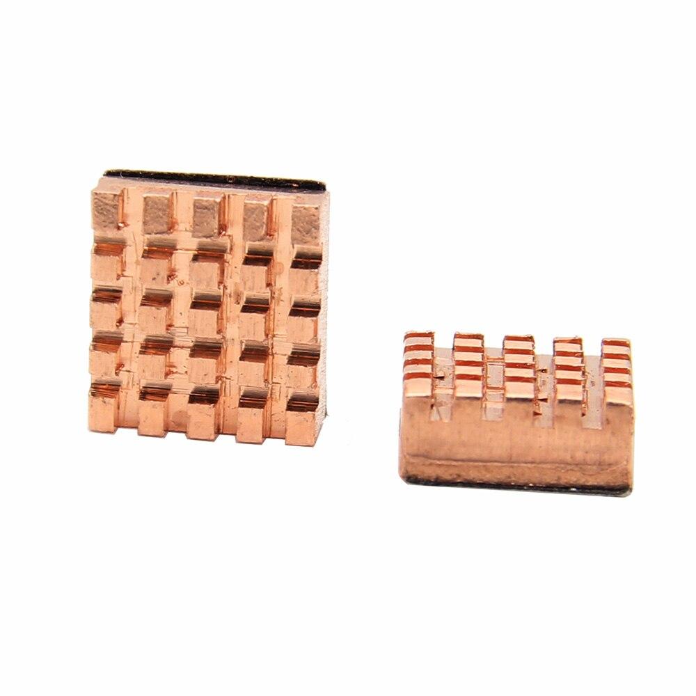Raspberry Pi 3 B+ Heatsink Heat Sink 2Pcs Copper Heat Sink For Raspberry Pi 3 Model B+ / 3b / 2b / B+ / Zero / Zero W (wireless)