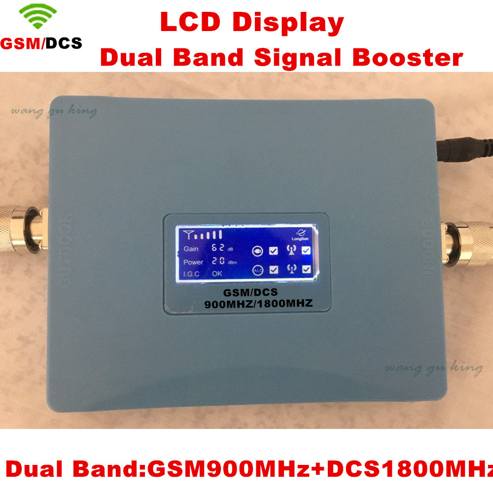 LCD Display GSM 900 DCS LTE 1800 Dual Band Cell Phone Signal Booster GSM 4G 1800mhz Cellphone Repeater Amplifier