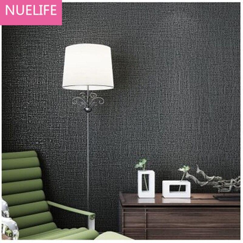 0,53x10 Mt Vlies Einfarbig Tapete Beige Schwarz Grau Weiß Moderne Einfache  Schlafzimmer Wohnzimmer Studie