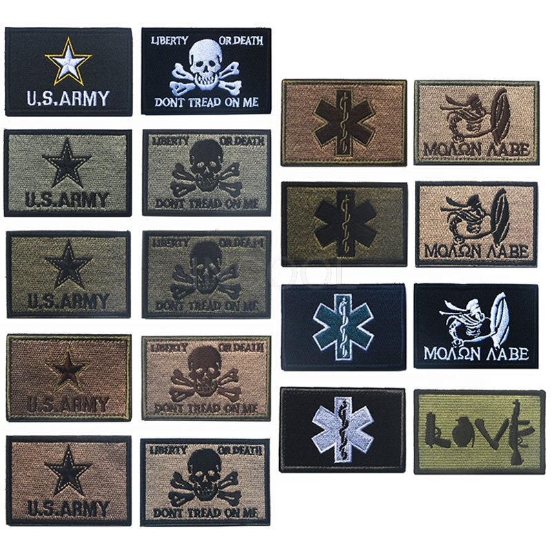 50 Pcs Cross Medical Patch Morale Tactical Patches Hook & Loop Embroidery Badge Military Army Armband Badge 2.5*2.5cm Wholesale Entertainment Memorabilia