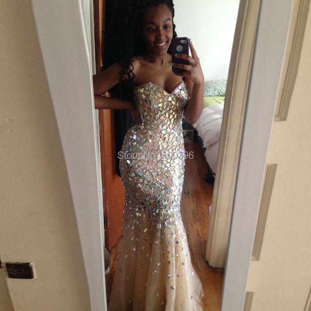 Boda Rebeca Gipsy Kings : Stunning rhinestones classic mermaid prom dresses
