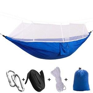 Image 2 - Portátil de pouco peso parachute toldo acampamento redes mosquiteiras para caminhadas ao ar livre mochila viagem estilo 12 toldo
