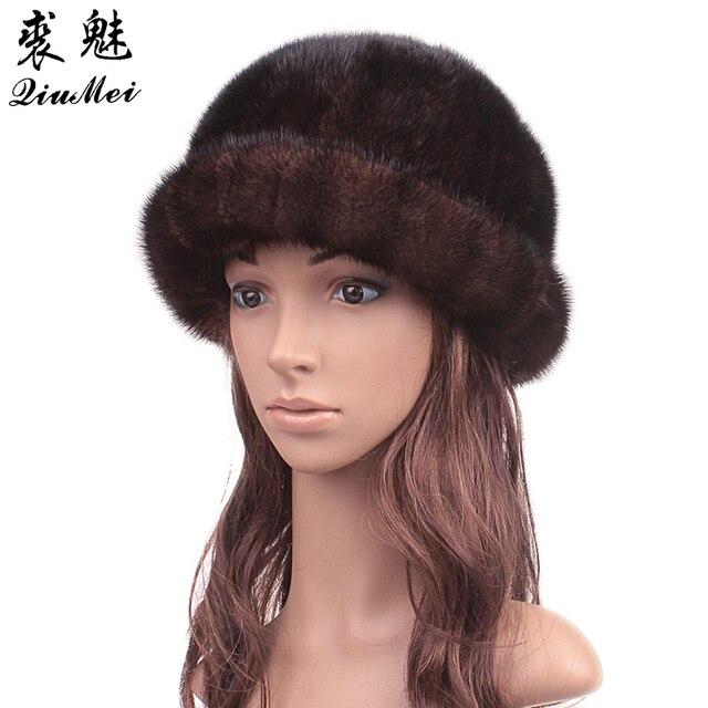 00a47524dad Winter Fur Hats Real Mink Fur New 2018 Fluffy Hat Girls Casual Sun Lovely  Caps Women