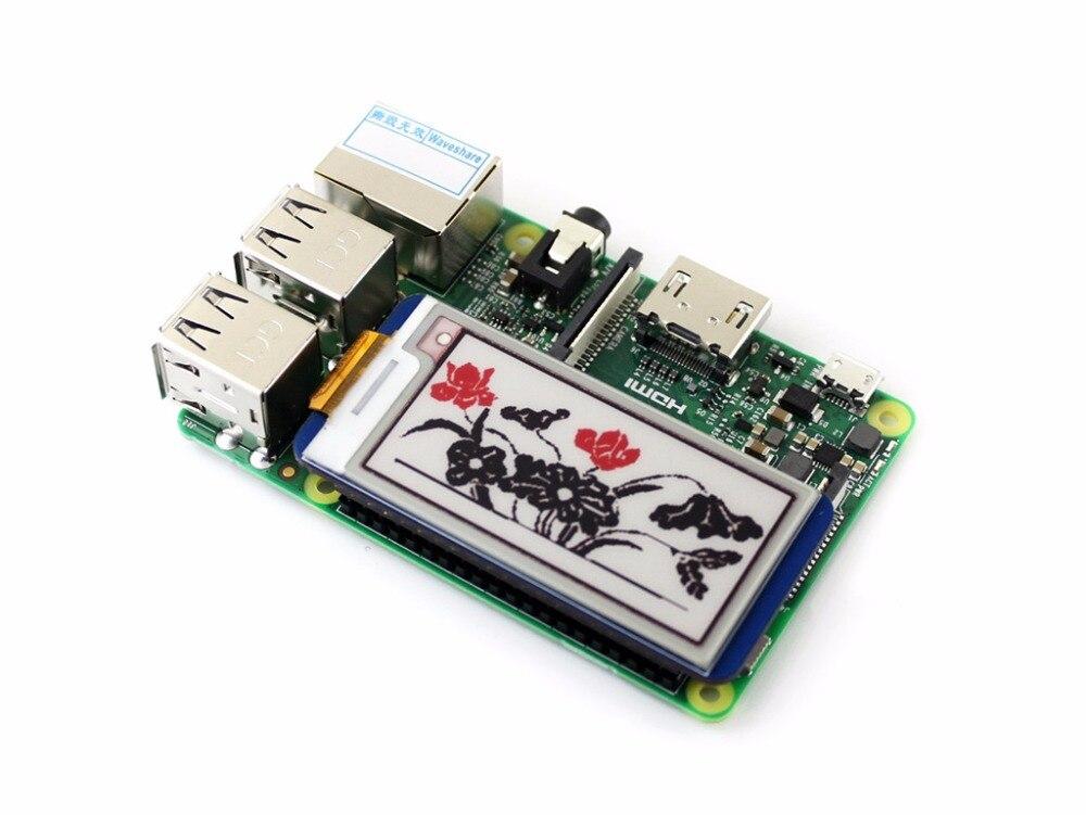 Image 2 - 2,13 дюймов E Ink дисплей шляпа 212x104 E бумажный модуль для Raspberry Pi 2B/3B/Zero W красный черный белый трехцветный SPI интерфейс-in Доски для показов from Компьютер и офис