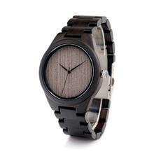 BOBO BIRD Wooden Watch Men Wooden Bamboo Wristwatch Men's Quartz Watch Top Brand Luxury Watches Men Clock Relogio with Paper Box