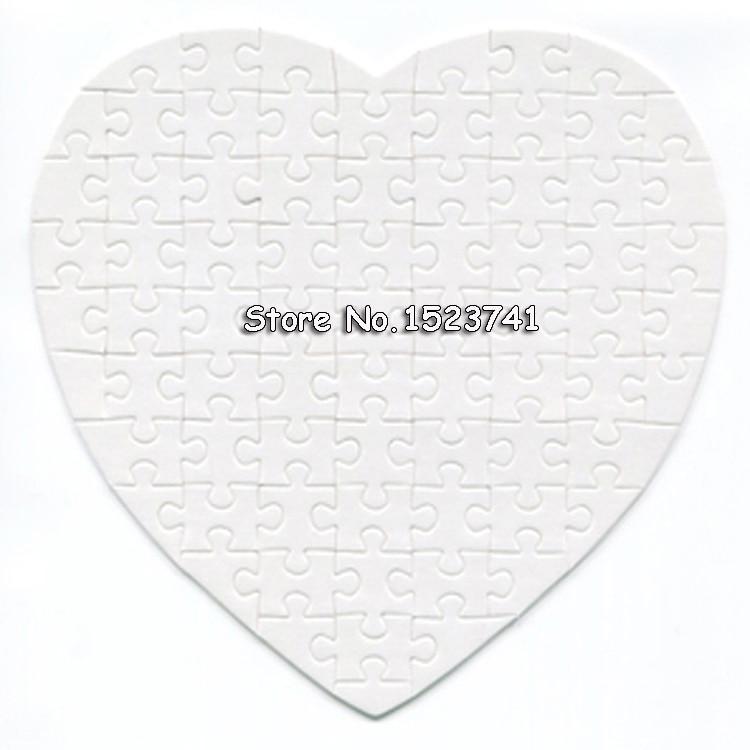 1 Pc Herz Sublimation Leere Puzzle Diy Handwerk Jigsaw Puzzle Kostenloser Versand
