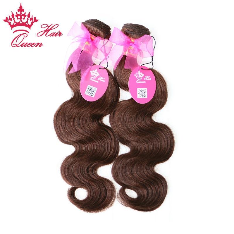 ФОТО Queen Hair 2pcs/Lot Brazilian Virgin Human Hair Body Wave #2 Color 100% Human Hair Brazilian Body Wave 14