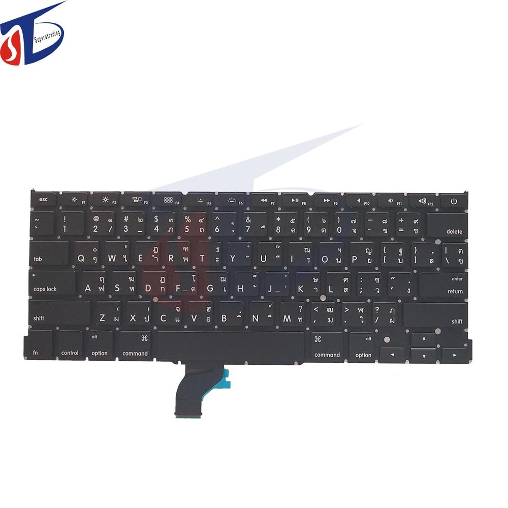 New US TH keyboard for font b Macbook b font Pro Retina 13 A1502 AMERICA Thai