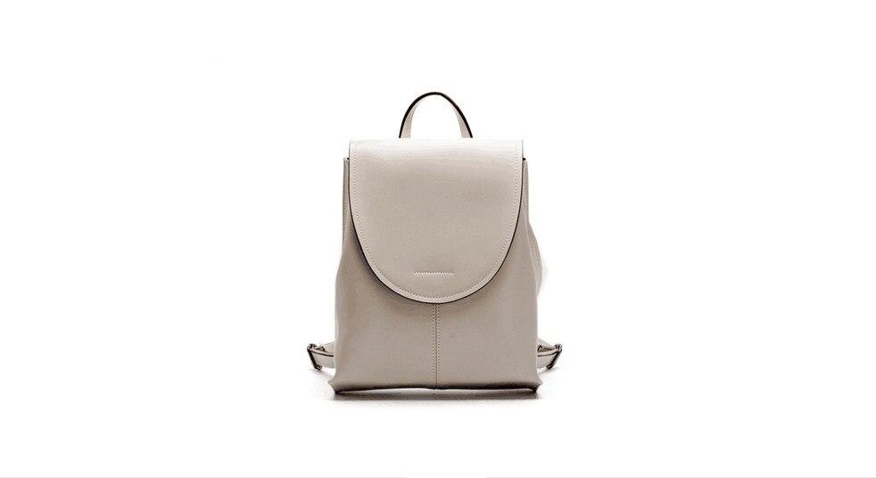 2018 nouveau style femmes véritable cowskin en cuir souple sac à dos en plein air loisirs sac